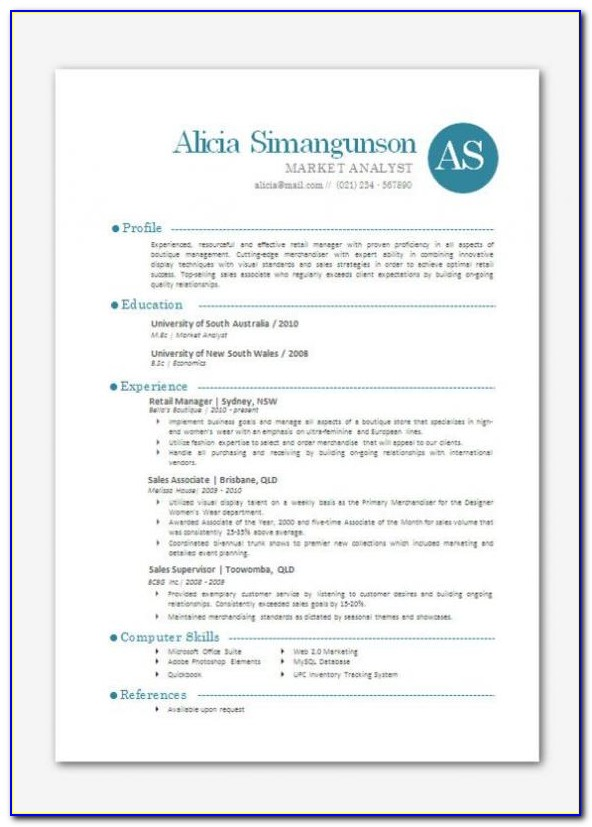 Free Resume Templates For Apple