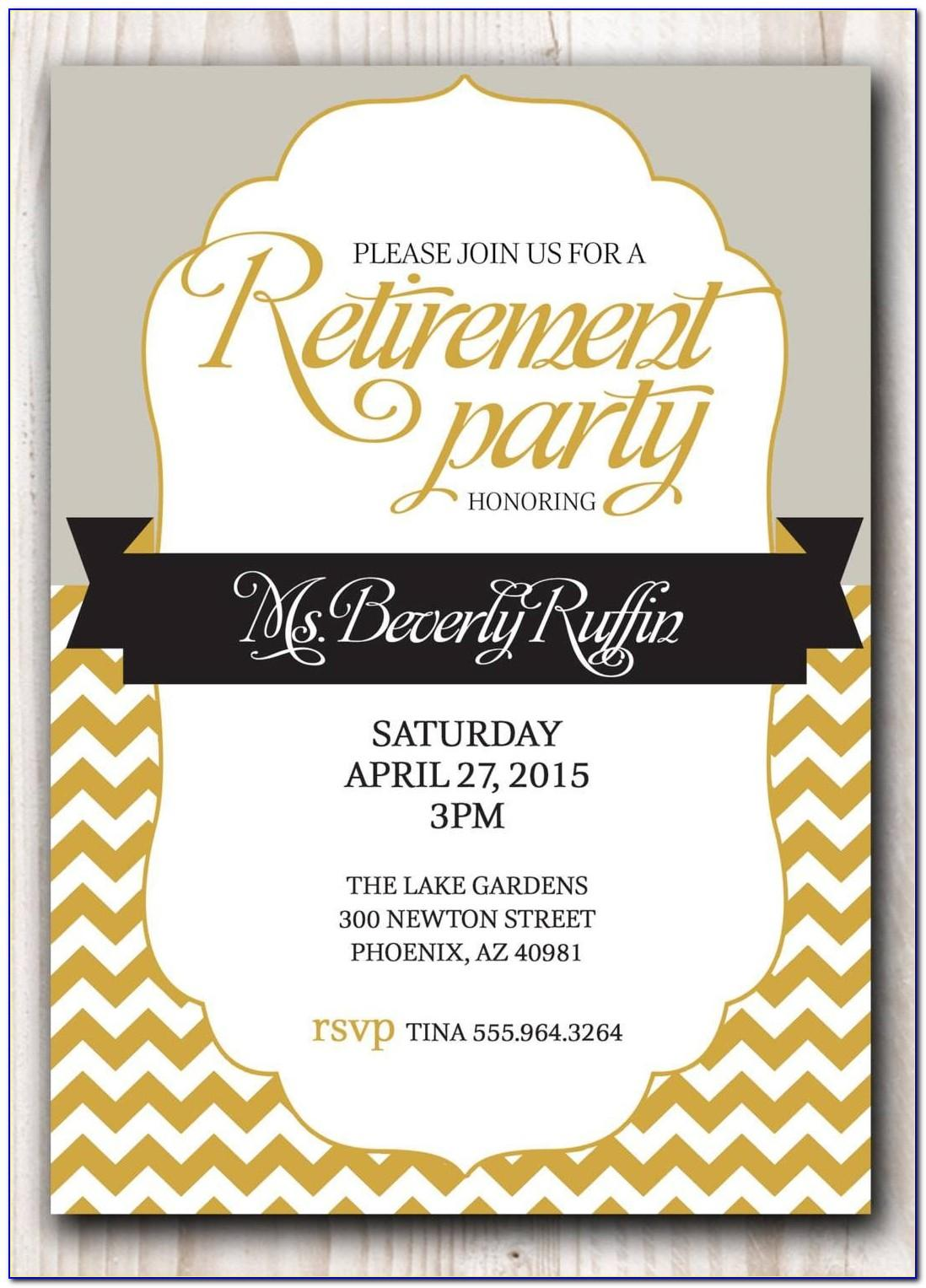 Free Retirement Luncheon Flyer Template