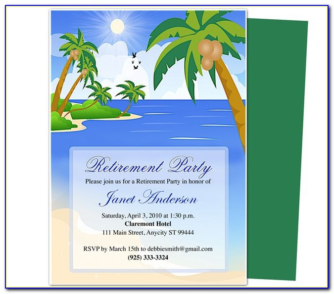 Free Retirement Party Invitation Template Microsoft