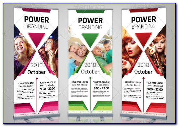 Free Roll Up Banner Design Template Psd
