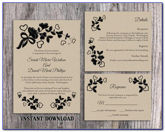 Free Rustic Wedding Invitation Templates Uk