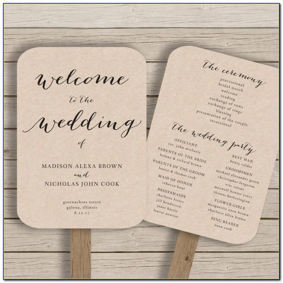 Free Rustic Wedding Program Templates