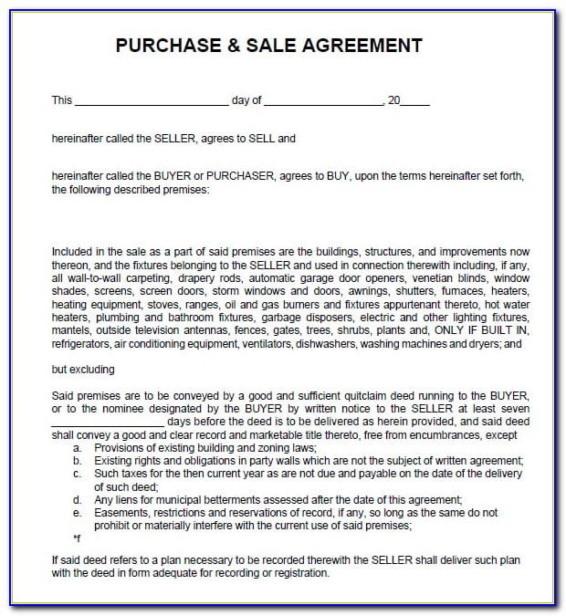 Free Sales Contract Template