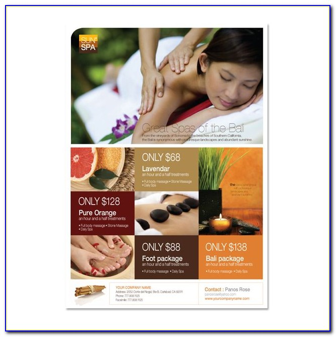 Free Salon And Spa Flyer Templates