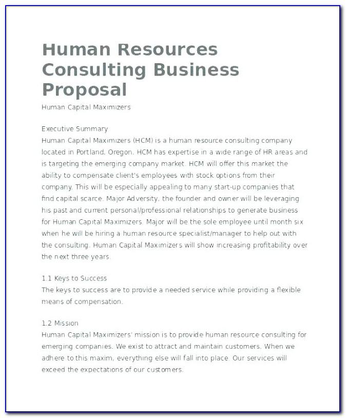 Free Sample Consulting Proposal Template