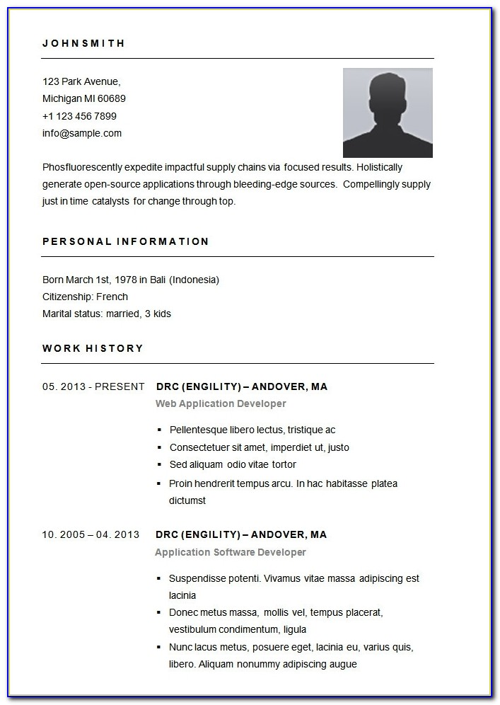 Basic Resume Template – 51+ Free Samples, Examples, Format For Basic Resume Template
