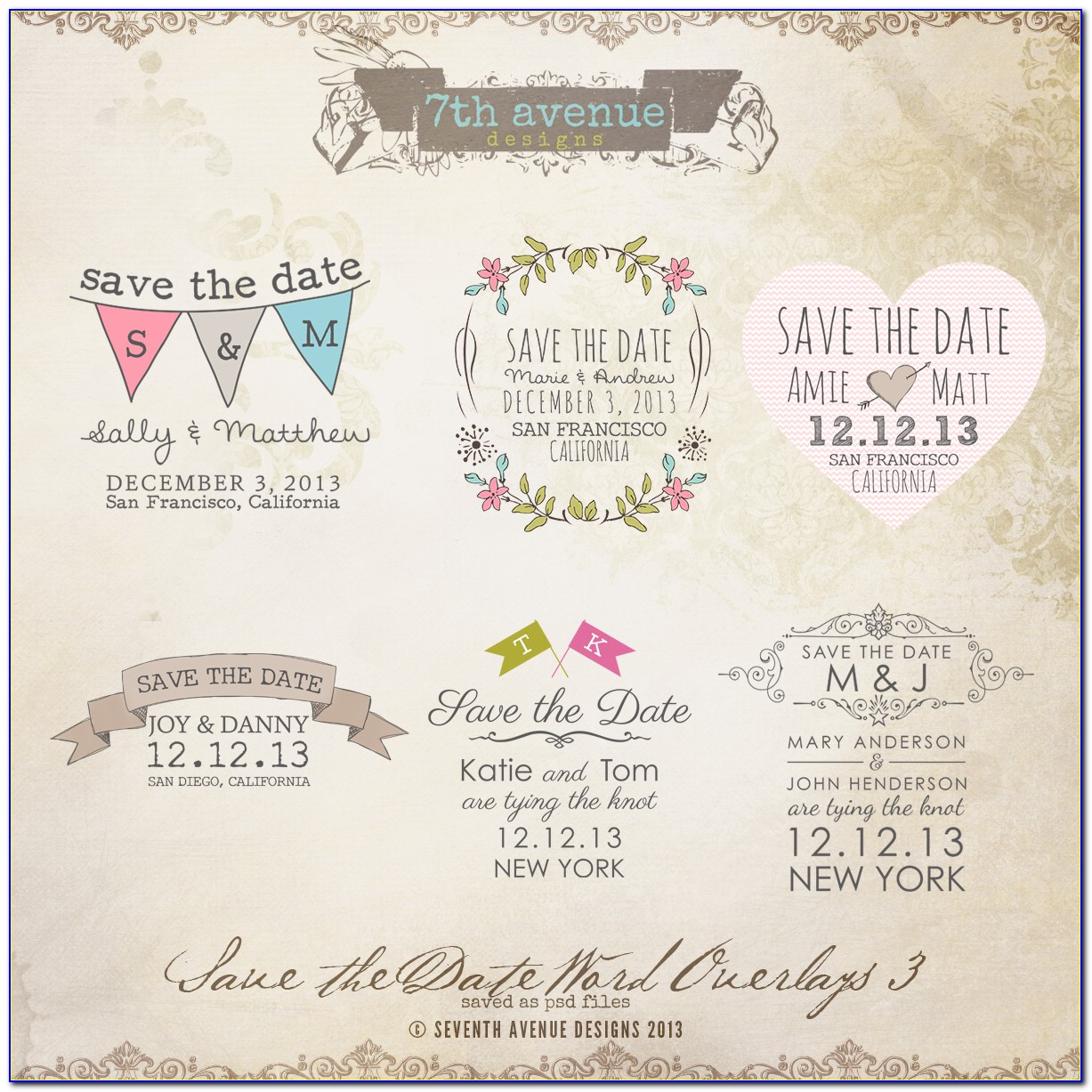 Free Save The Date Templates For Word Birthday
