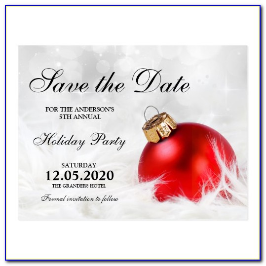 Free Save The Date Templates For Word Holiday Party