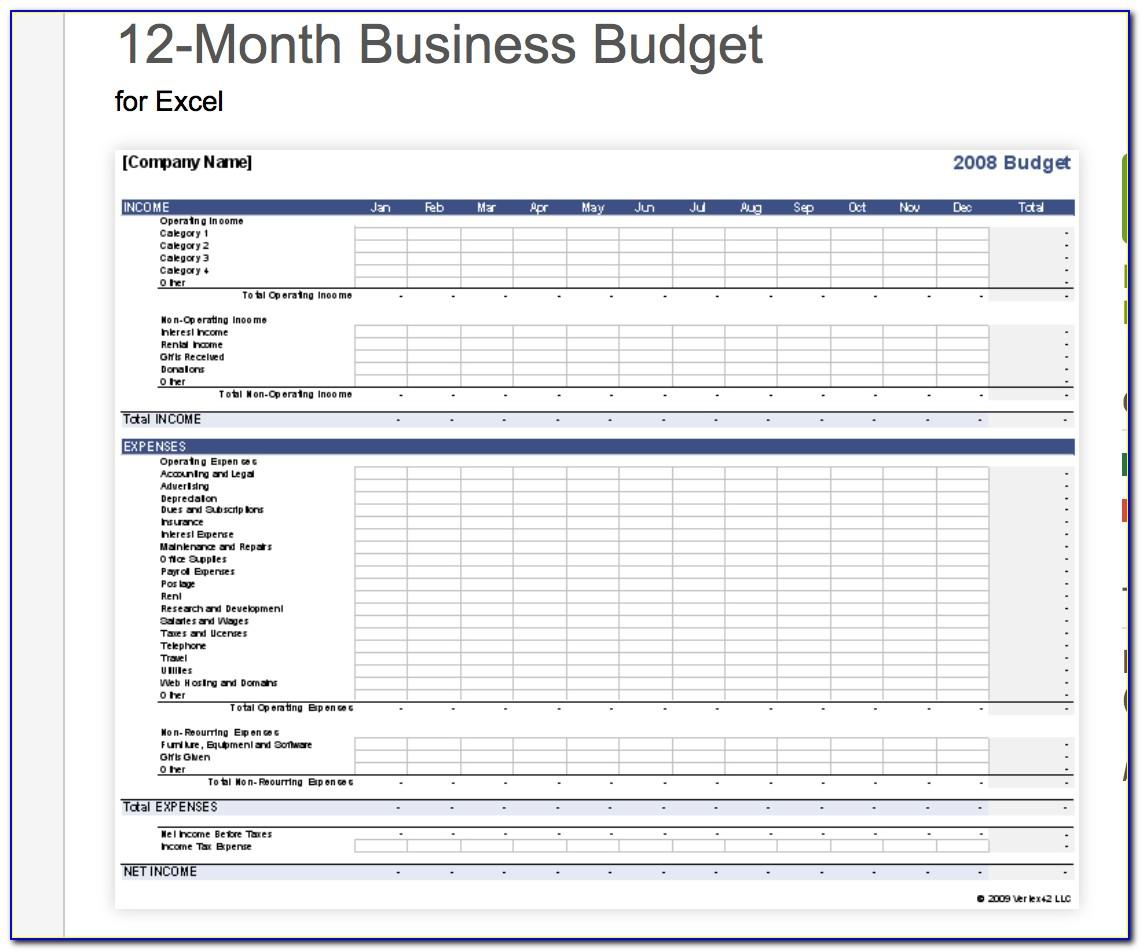 Free Small Business Budget Template Excel Vincegray2014