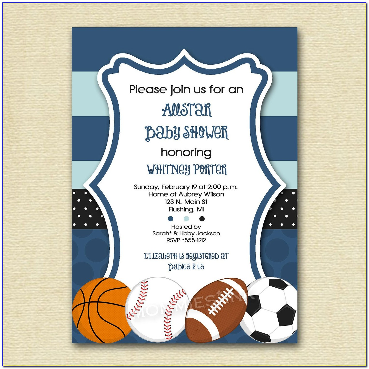 Free Sports Themed Baby Shower Invitation Templates
