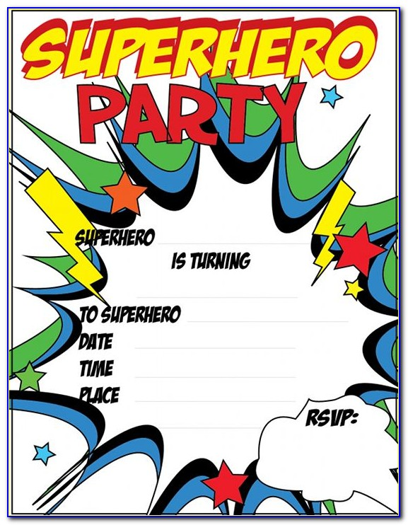 Free Superhero Birthday Invitation Templates