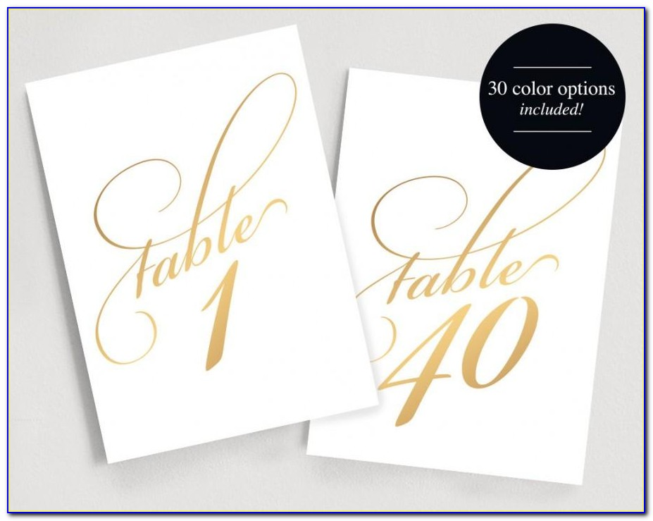 Free Table Number Templates 4×6