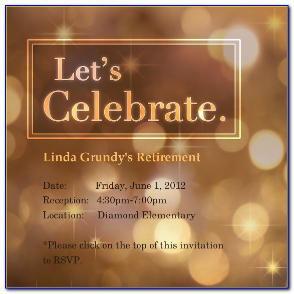 Free Teacher Retirement Party Invitation Templates For Word