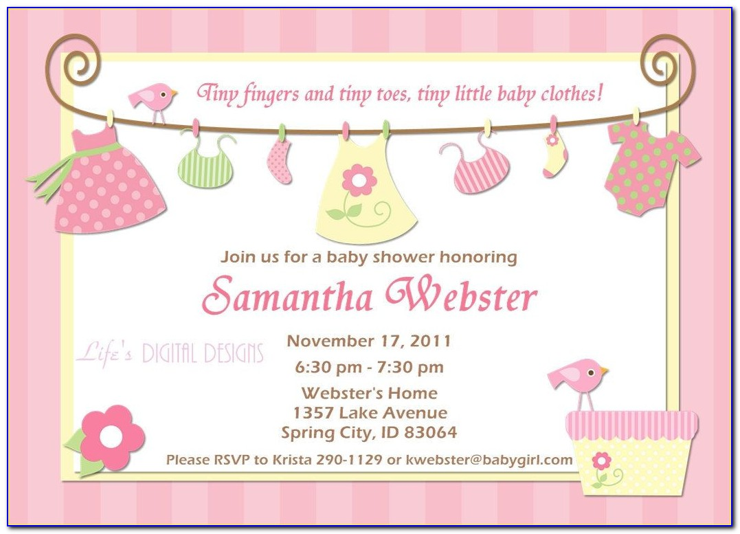 Free Template Baby Shower Invitation