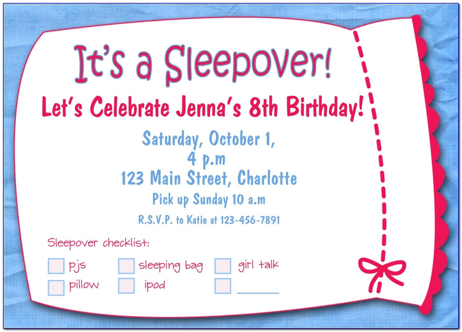 Free Template First Birthday Invitation