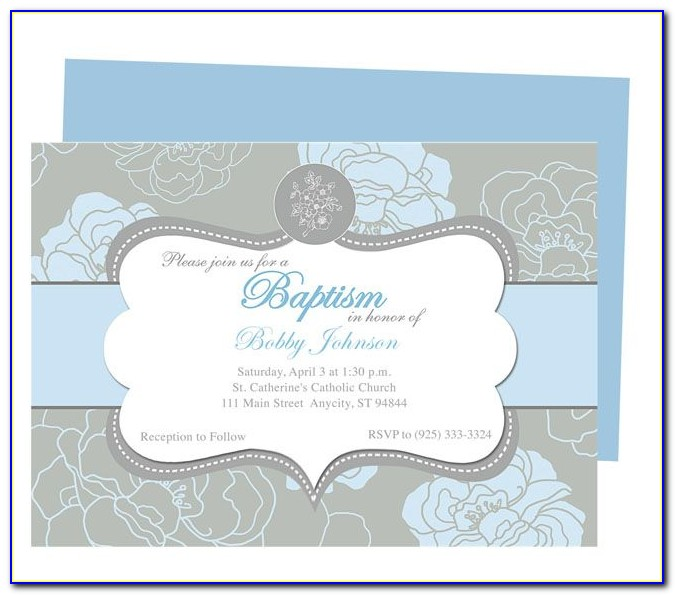 Free Template For Baptism Invitation