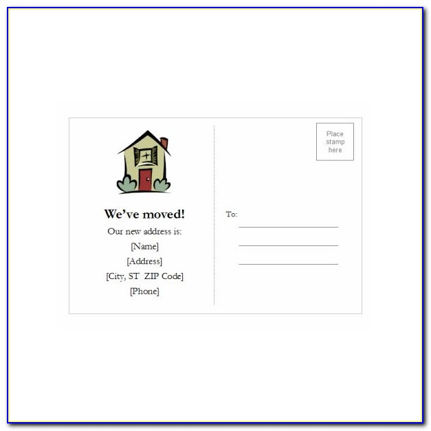 Free Template For Postcards Microsoft Word