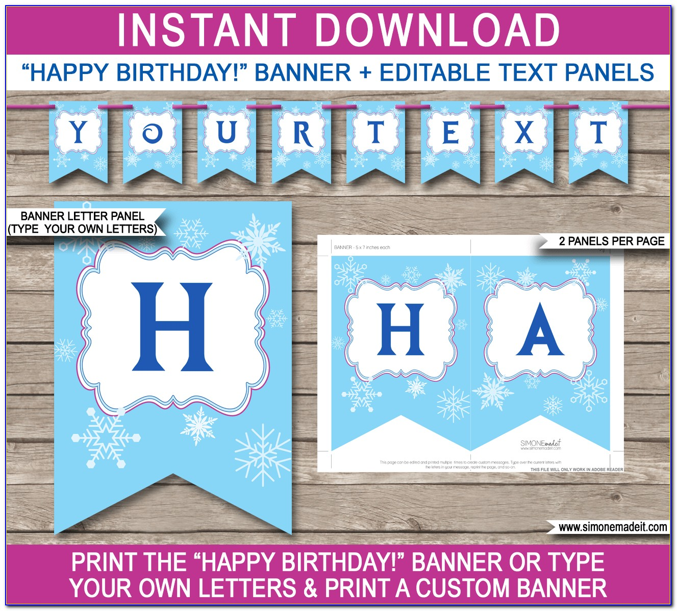 Free Templates For Happy Birthday Banners