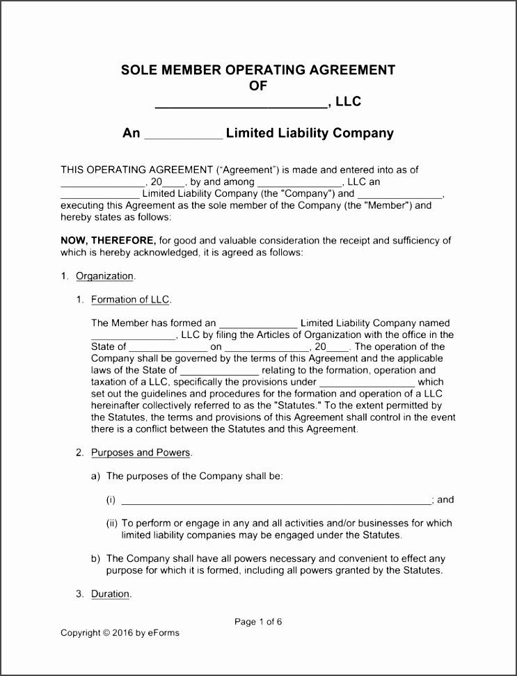 Free Texas Llc Operating Agreement Template