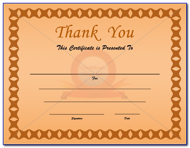 Free Thank You Gift Certificate Template