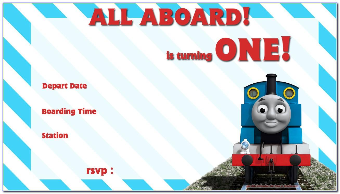 Free Thomas The Train Birthday Invitations Template