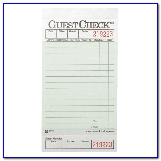 Free Waitress Order Pad Template