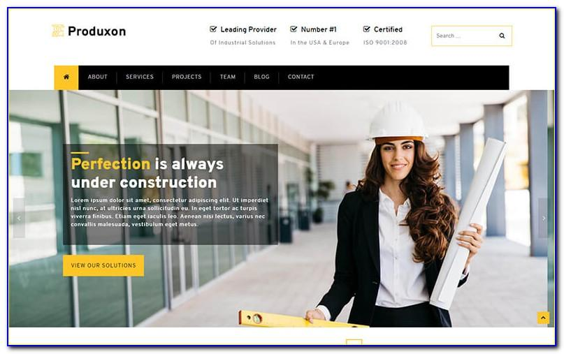 Free Website Templates For Manufacturing Companies