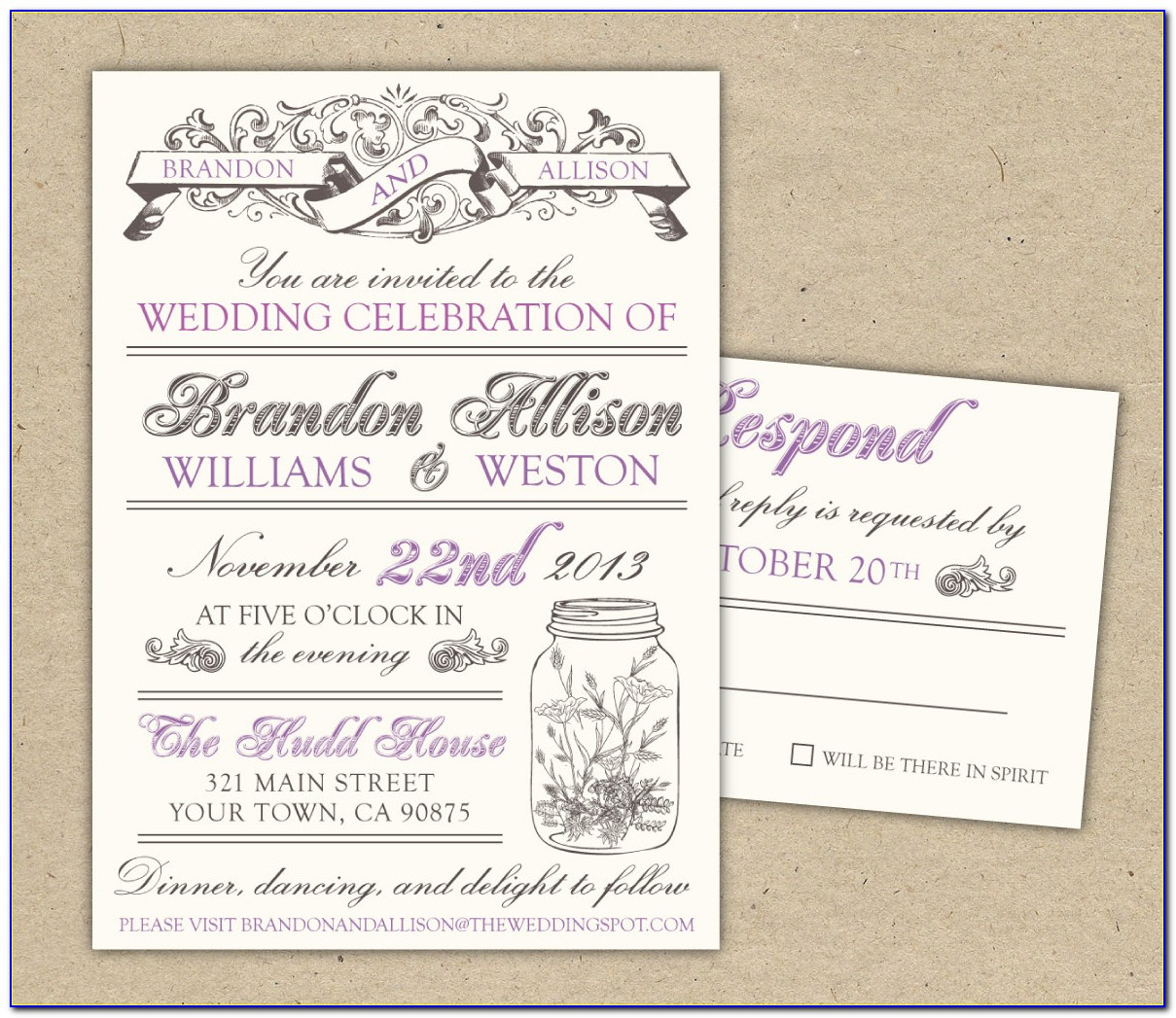 Free Wedding Evite Templates