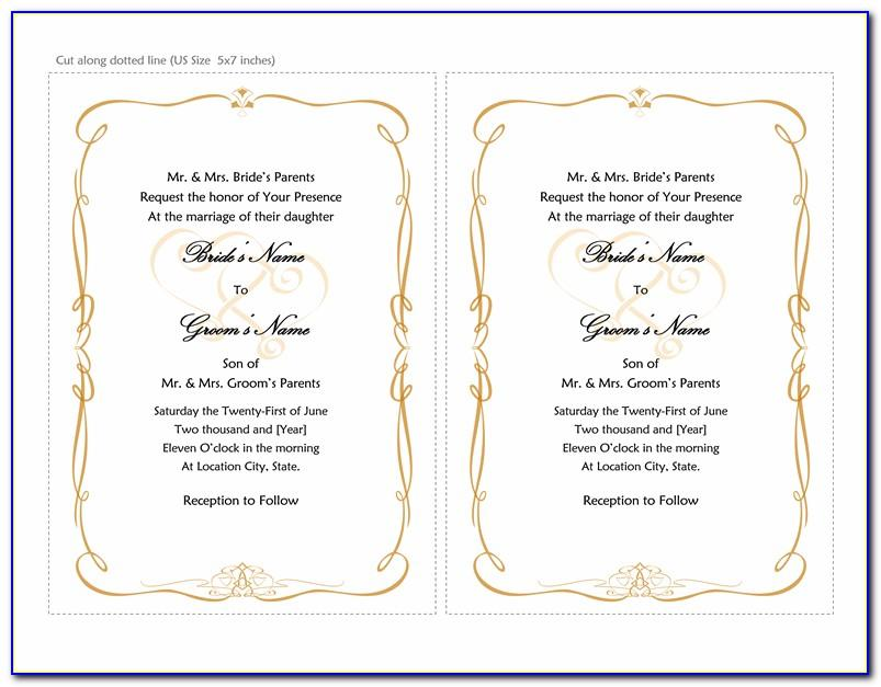 Free Wedding Invitation Template For Microsoft Word Vincegray2014