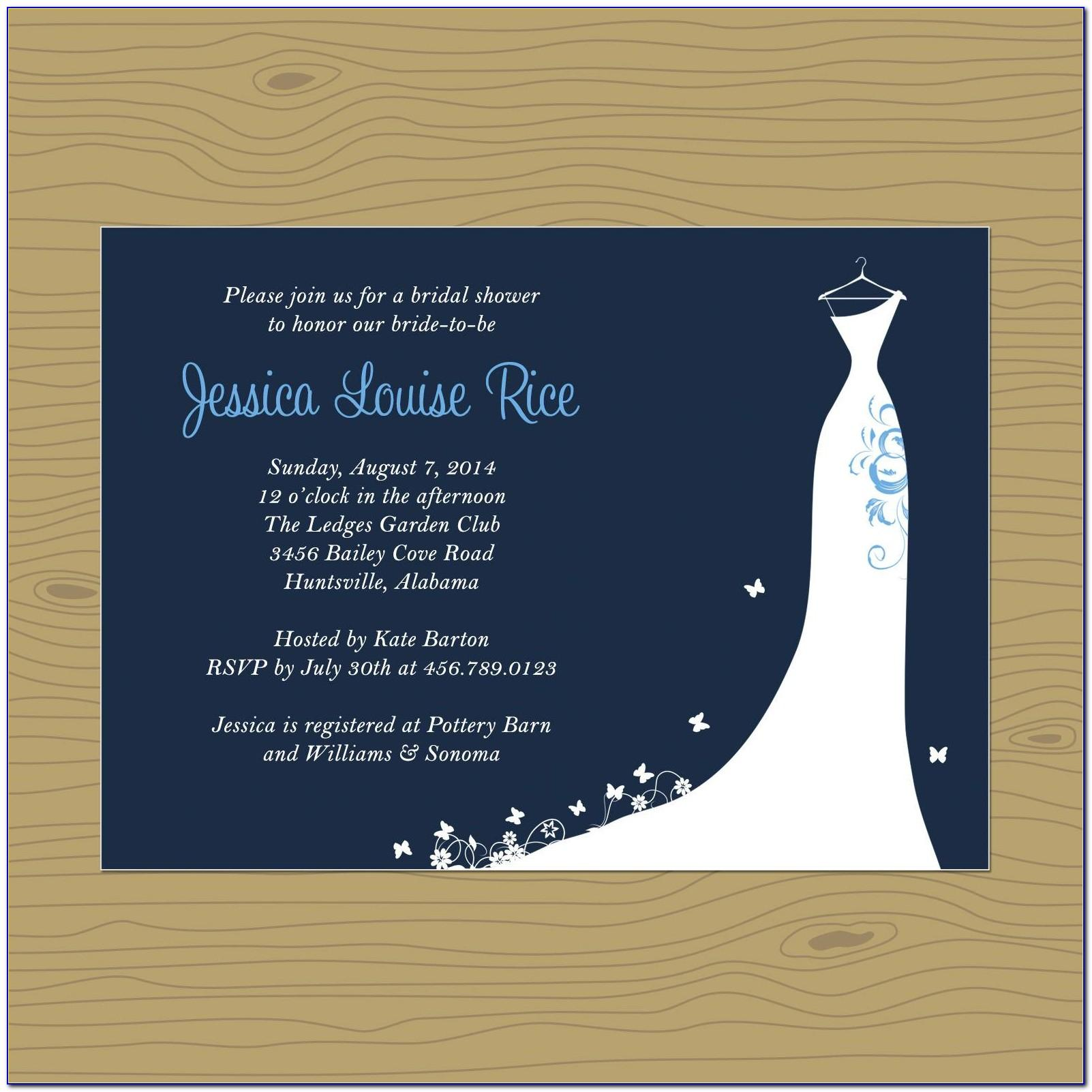 Free Wedding Shower Invitation Templates For Word