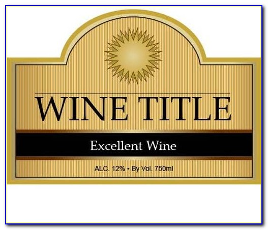 Free Wine Bottle Labels Template Download