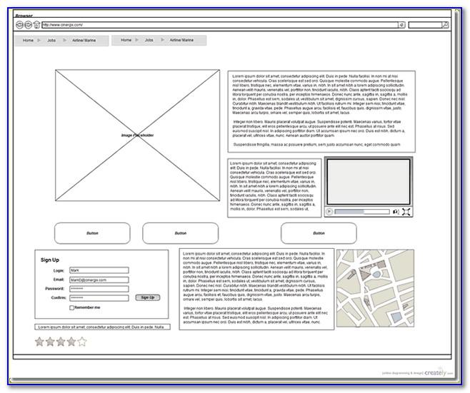 Free Wireframe Templates For Website