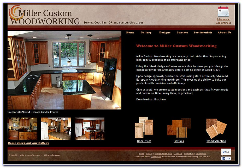 Free Woodworking Website Templates