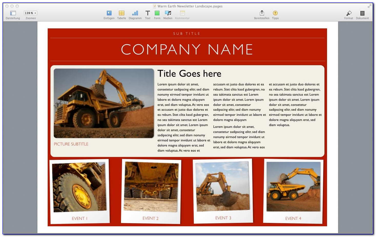 Free Word Newsletter Templates For Mac