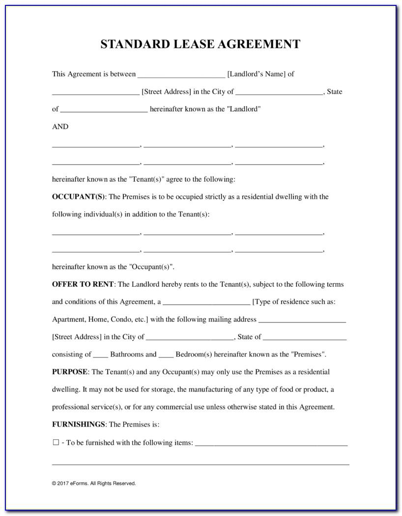 Free Word Template Lease Agreement