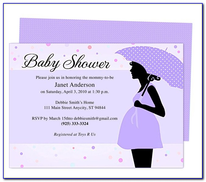 Free Word Templates For Baby Shower Invitations