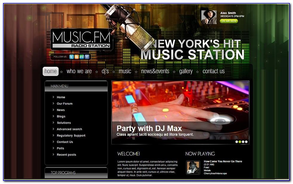 Free Wordpress Radio Station Website Template