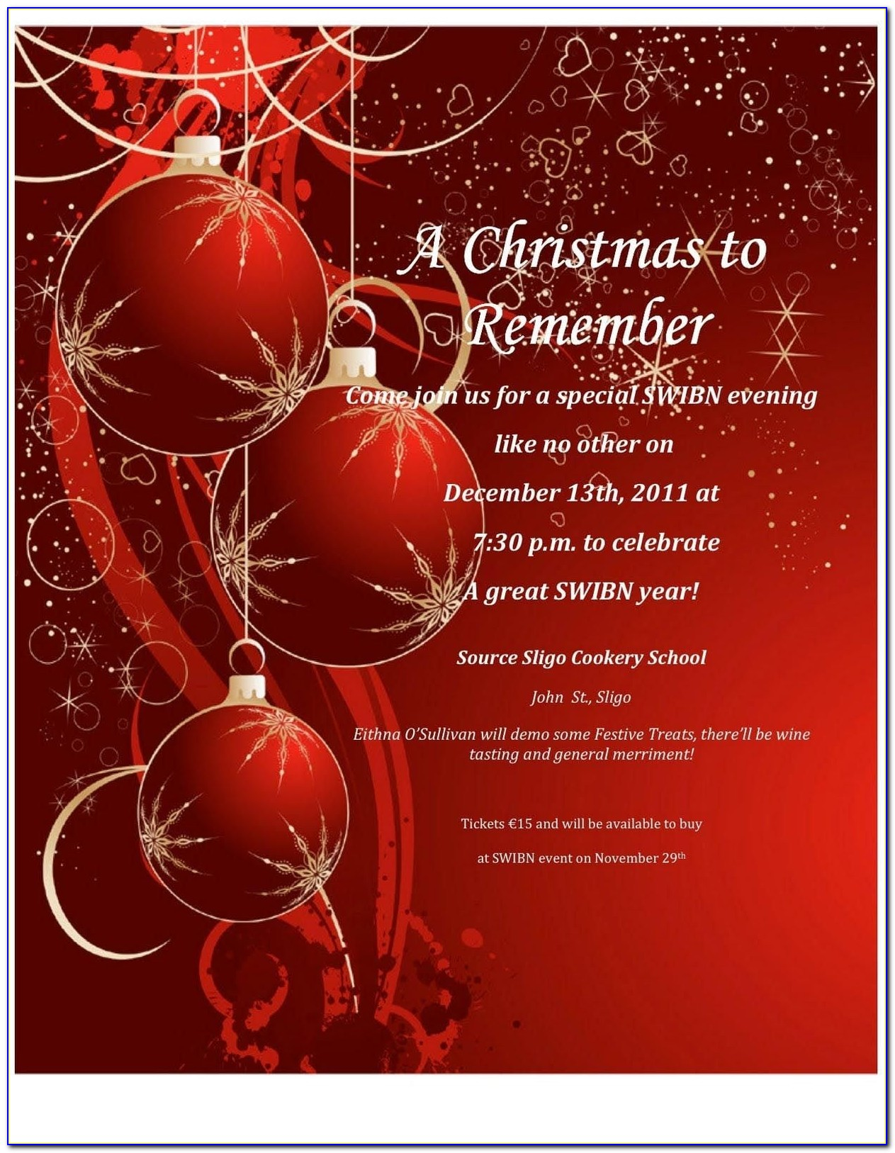 Christmas Party Invitation Templates Free Download With Regard To Free Christmas Invitations Templates To Download