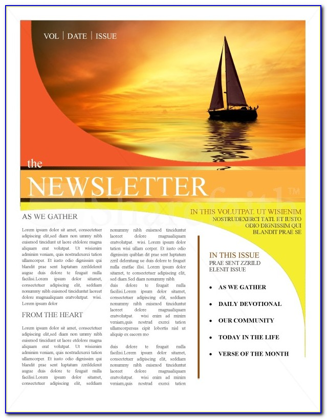 Free Youth Church Newsletter Templates
