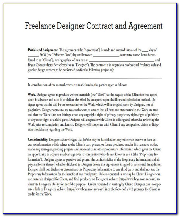 Freelance Contract Example