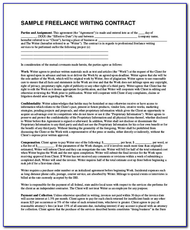 Freelance Contract Sample Germany