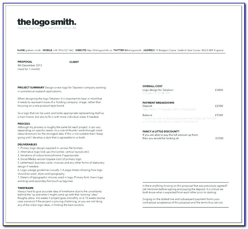 Freelance Developer Contract Template Uk