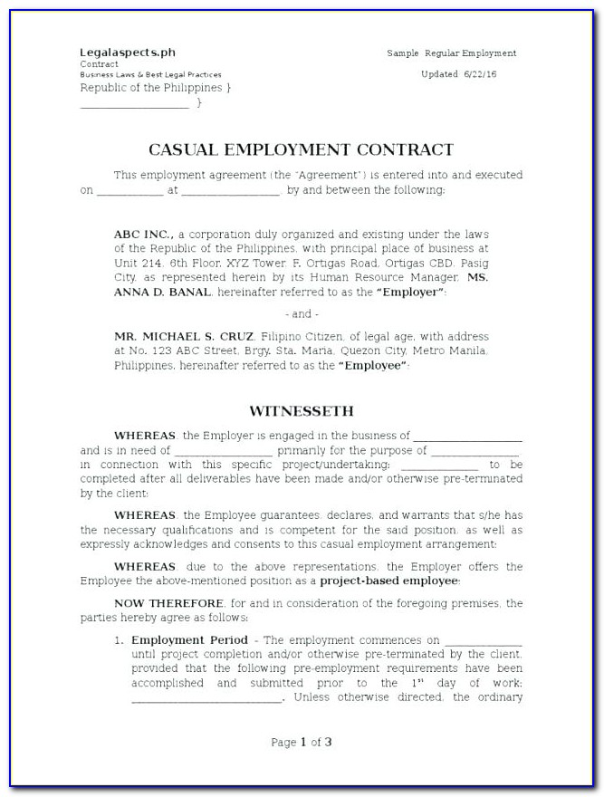 Freelance Web Developer Contract Sample