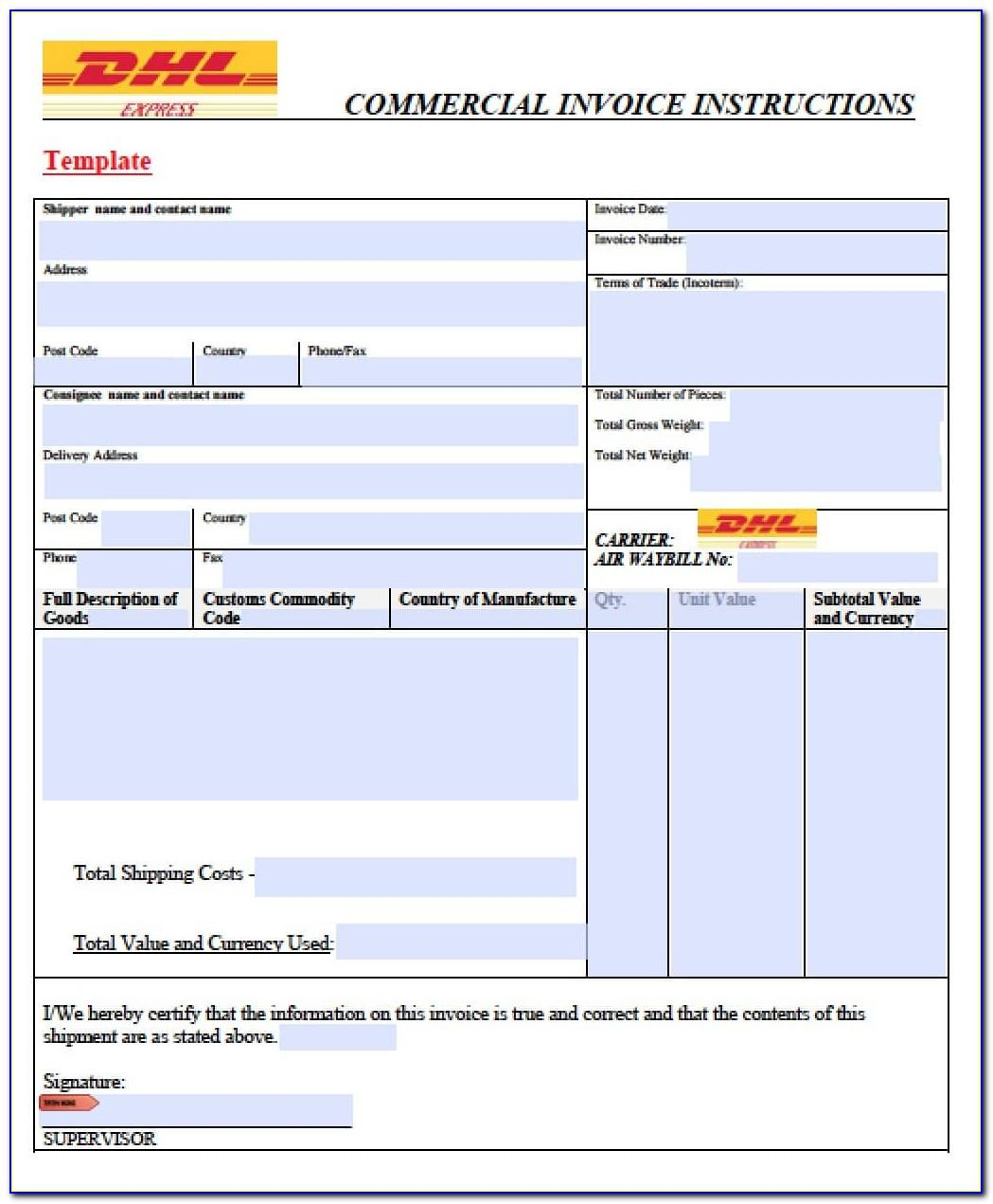 Freight Invoice Example