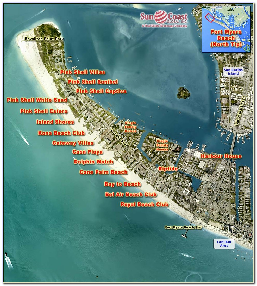 Ft Myers Beach Hotels Map