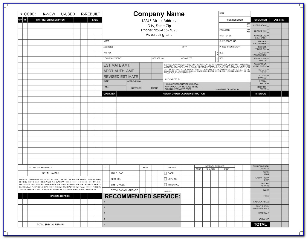 Full Color Ncr Forms