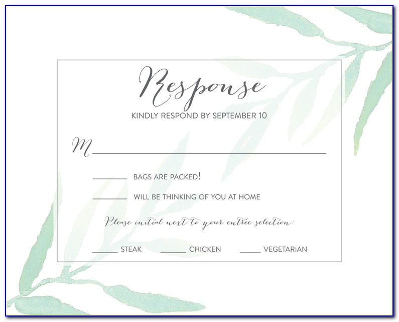 Full Form Rsvp In Wedding Cards In Hindi