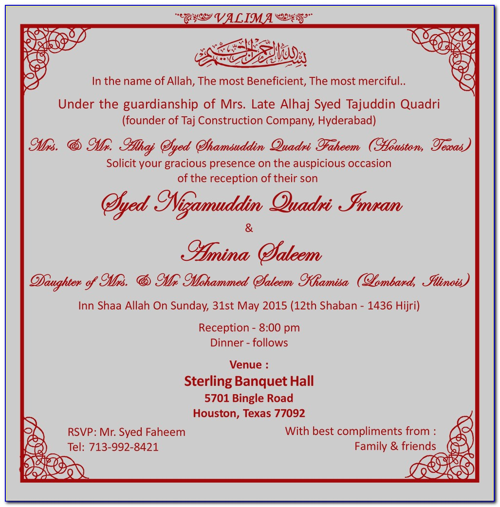 Full Form Rsvp In Wedding Cards In India