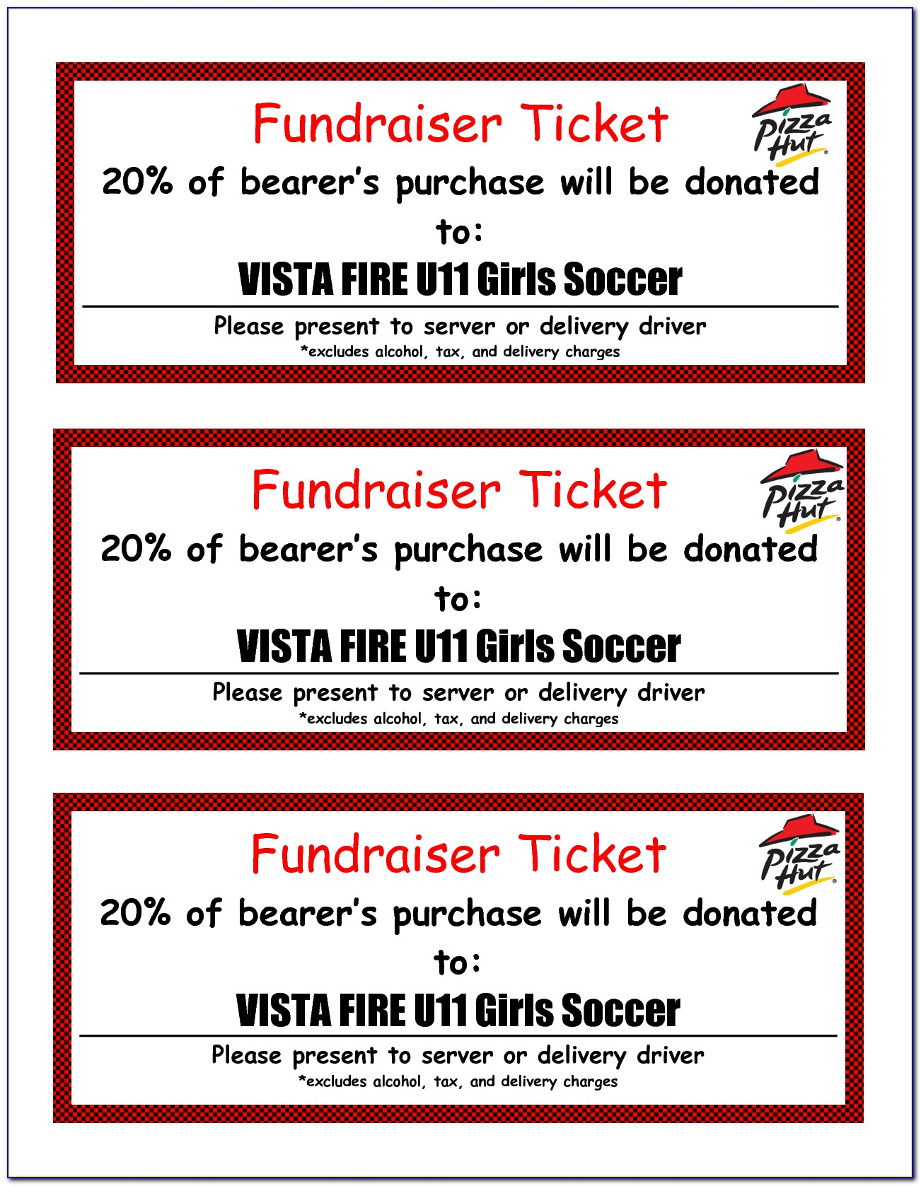 Fundraiser Ticket Template Free Download
