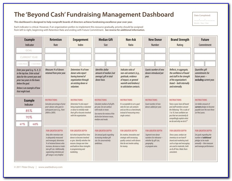 Fundraising Dashboard Examples